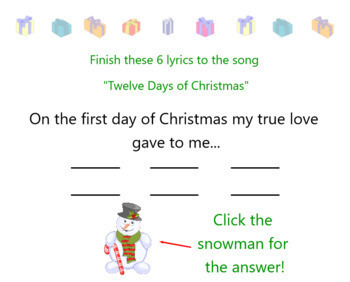 """Christmas Song with Movement 