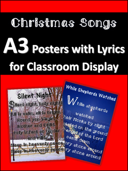 Christmas Songs (A3 Posters for Classrooms)
