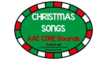 Christmas Songs AAC Core Boards