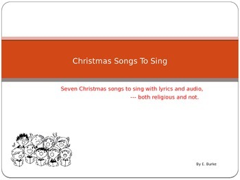 Christmas Songs To Sing
