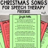 Christmas Songs for Speech Therapy {FREEBIE}