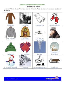 Christmas Songs in Spanish Spanish Class Activities