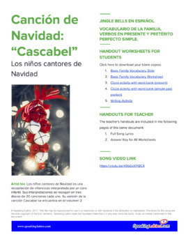 Christmas Songs in Spanish Spanish Class Activities