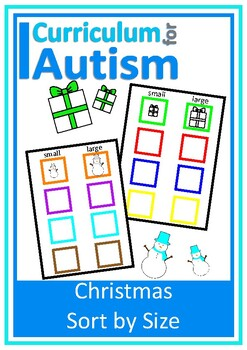 Christmas Sort by Size and Color Basic Concepts Autism Special Education