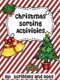 Christmas Sorting Activities