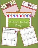 Christmas Sorting Flurry (PowerPoint, Printables, Parts of Speech, Game)