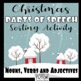 {Parts of Speech Sort} {Christmas parts of speech} {Christmas grammar}