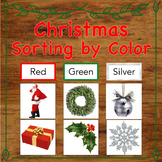 Christmas Sorting by Colour / Color with Real Pictures