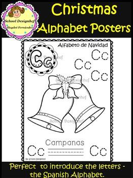 Christmas Spanish Alphabet - Posters/Alfabeto Español Navidad(School Designhcf)