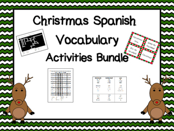 Christmas Spanish Vocabulary Bundle