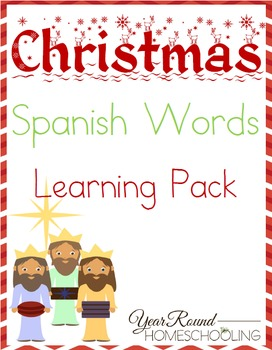 Christmas Spanish Words Learning Pack