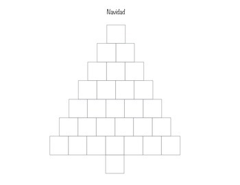 Christmas Spanish coloring worksheet and spelling tree (Feliz Navidad)