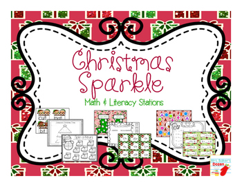 Christmas Sparkle Math and Literacy Stations