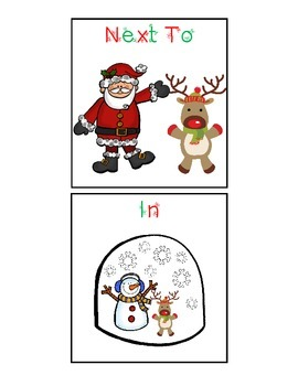 Christmas Spatial Concept Cariboo with Flashcards Combo