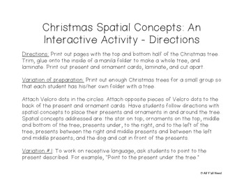 Christmas Spatial Concepts:... by All Y'All Need | Teachers Pay ...