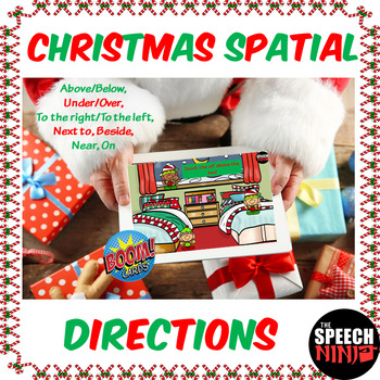 Christmas Spatial Directions Boom Cards