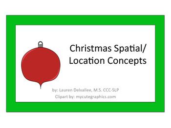 Christmas Spatial/Location/Qualitative Concept Book