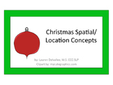 Christmas Spatial/Location/Qualitative Concept Book