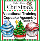 Christmas Special Education Work Box Cupcake Assembly Task