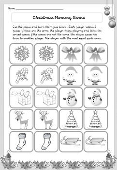 Christmas Special for Grades 1, 2 & 3 - Math, Language, Games - Printable