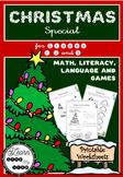 Christmas Special for Grades 1, 2 & 3 - Math, Language, Ga