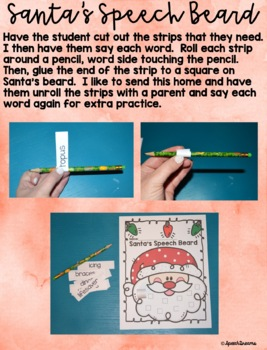 Santa's Beard Christmas Speech Therapy Craft