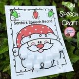 Santa's Beard Christmas Speech Therapy Craft