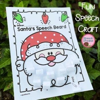 Santa Beard Christmas Speech Therapy Craft