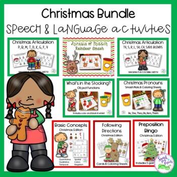 Christmas Speech & Language Activities Bundle