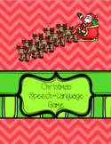 Christmas Speech-Language Game