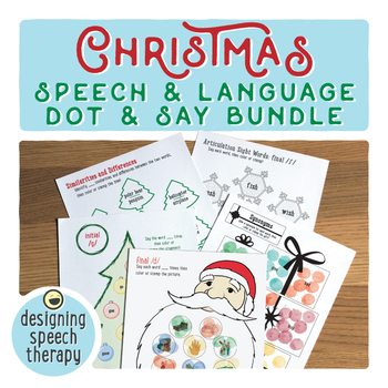 Christmas Speech  & Language Say and Dot BUNDLE