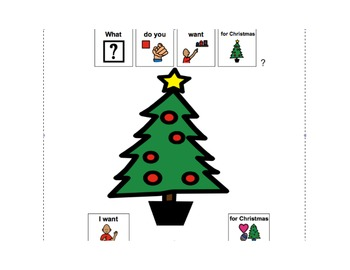 Christmas Speech Language Therapy Materials  (Autism and Language delays)