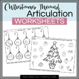 Christmas Speech No Prep Articulation Worksheets for Speec