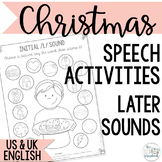 Christmas Speech Sound Worksheets- later sounds- No Prep