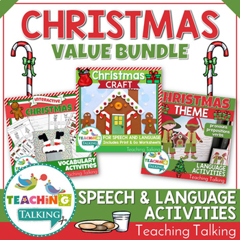 Christmas Speech Therapy Activities Value Bundle