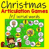 Christmas Speech Therapy Articulation Activities for r words