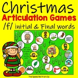 Christmas Speech Therapy Articulation Activities for f words
