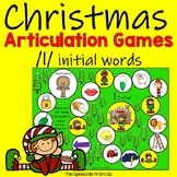 Christmas Speech Therapy Articulation Activities for l words