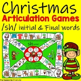 Christmas Speech Therapy Articulation Activities for sh words
