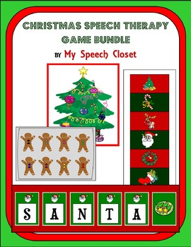 Christmas Speech Therapy Game Bundle