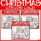Christmas Speech Therapy Homework Bundle