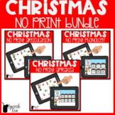 Christmas Speech Therapy NO PRINT Bundle