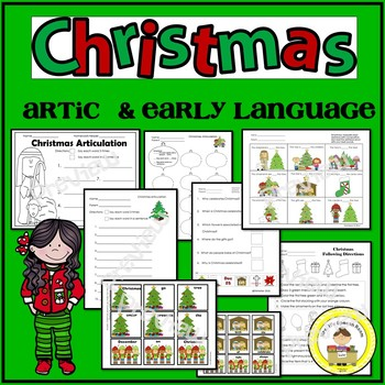 Christmas Speech Therapy Printable Pack