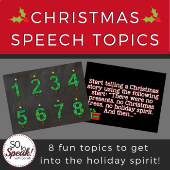 Christmas Speech Topics