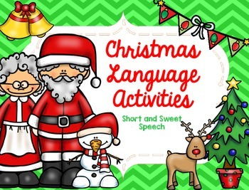 christmas language activities by short and sweet speech tpt - Christmas Eve Activities