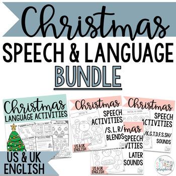 Christmas Speech and Language Bundle- No Prep Activities