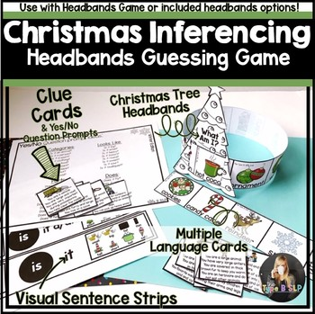 Christmas Speech and Language Headbands Game Companion: Inference Game