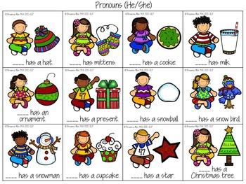 Christmas Celebration Speech and Language Packet