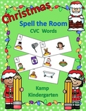 Christmas Spell the Room (CVC Words)