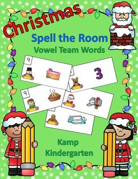 Christmas Spell the Room (Vowel Team Words)